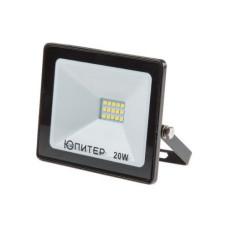Прожектор светодиодный 20 Вт 6500K ЮПИТЕР (1600 лм, холодный белый свет) (JP1201-20)